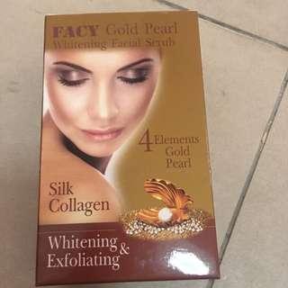 Facy Gold Pearl Whitening Facial Scrub