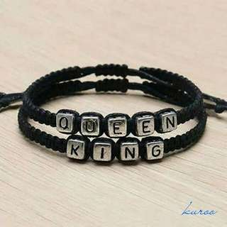 Gelang couple 2pcs King And Queen