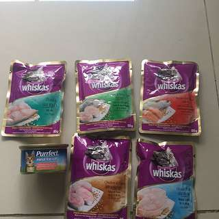 Paket Cat Food Whiskas dan Purffect