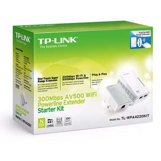 TP - Link TL-WPA4220Kit AV600 Powerline WiFi Kit (bar code: 6935364097547)