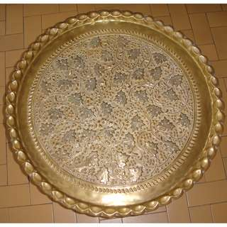Antique Solid Brass Tray / Dulang Tembaga