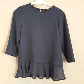 Zara Blue Blouse