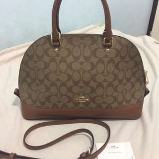 authentic coach bag with sling bag