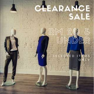 Clearance Sale (4 Days Left)