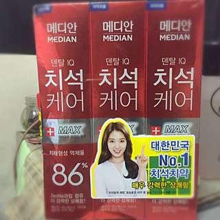 韓國 86%牙膏 特價三條200