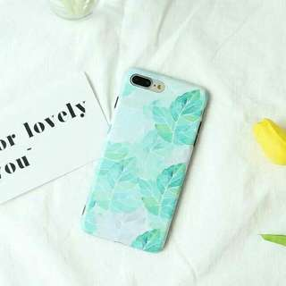 Watercolor painting Green leaves tropical summer iphone case iphone 6s 7 plus