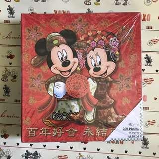 🎀 🎊 🎉 全新 迪士尼 米奇米妮 4R相簿 Disney Mickey & Minnie photo album 200pcs photos 4R Wedding 婚禮 婚後物資 婚後用品 結婚用品 道具 公仔 👰🏼 🤵🏼 🌷 🌸