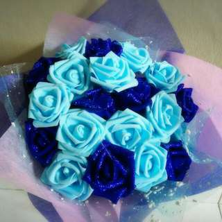 Dazzling Blue Roses Bouquet Flower for Gifts Valentines Day Mother's Day Gifts