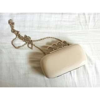 Cream and Gold Clutch