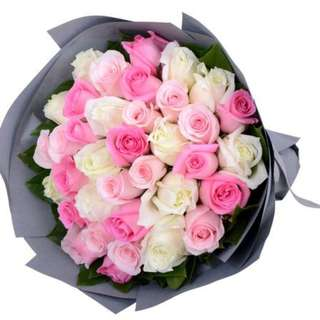Pink lady bouquet roses - tretrio