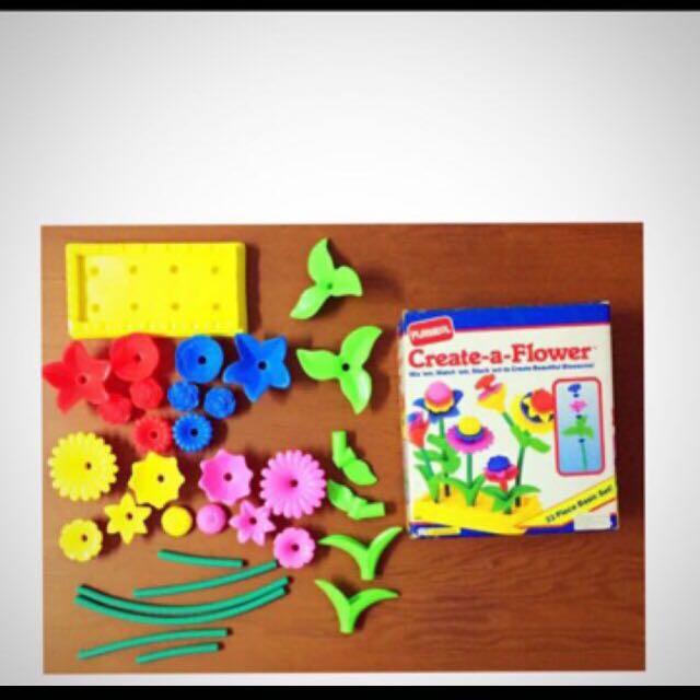 1992 Playskool Create A Flower Babies Kids Toys For