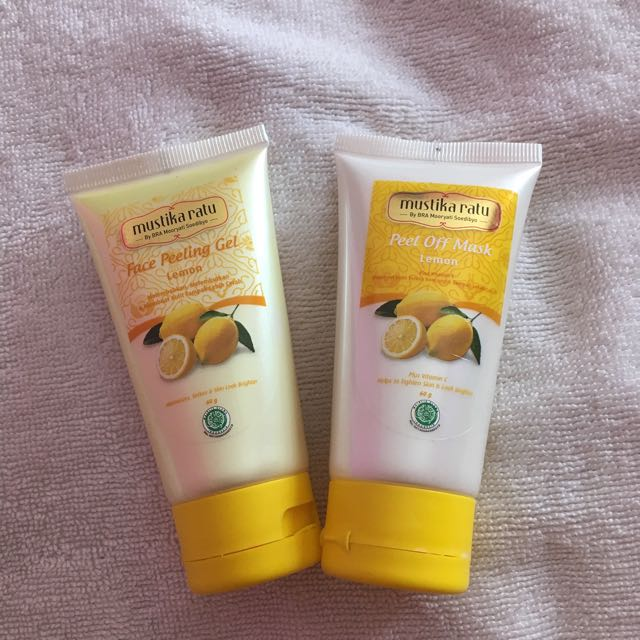 (1SET) Mustika Ratu Peel Off Mask & Peeling Gel, Health & Beauty, Skin, Bath, & Body di Carousell