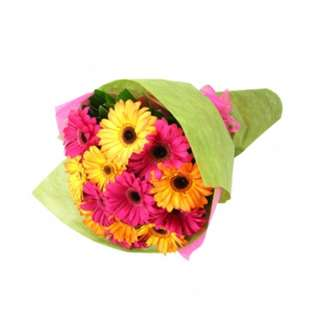 Yellow and pink gerberas bouquet - Yuhnnj