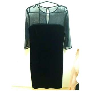 *Repriced* Elegant Black Mesh Dress