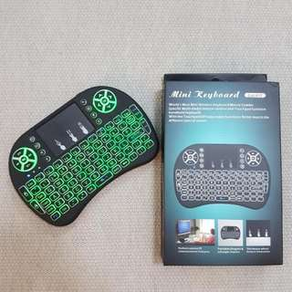 BN wireless mini keyboard mouse with backlit Rechargeable Battery
