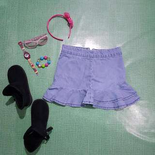 Just Tees Denim Skirt Size 10
