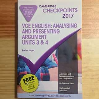 VCE English Checkpoints 2017 Language Analysis, Oral Presentation Unit 3/4