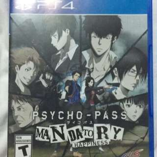 PS4 psycho pass mandatory happiness Video Game