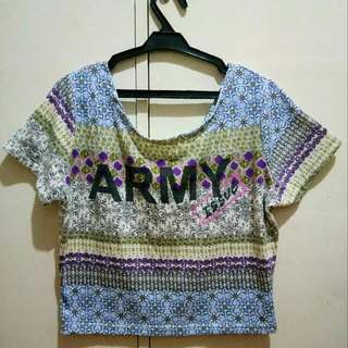 Cropped top Army Shirt