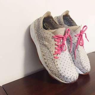 Nike Air Footscape Woven 編織鞋 灰粉紅 灰色 麂皮 側綁 藤原浩 陳冠希 潮 Chukka