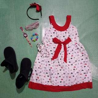 Whatever Ribbon Dress 4-7 YO