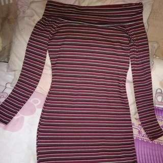 Off Shoulder Casual Fitted Dress