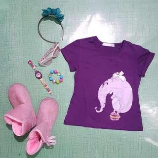 Grizzly Purple Shirt 3-5 YO