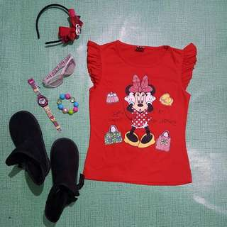 Minnie Mouse Red Blouse