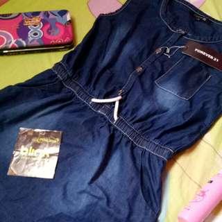 F21 Denim Dress with free Blink 2 PINs