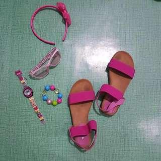 Lee Cooper Pink Sandals