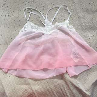 Cropped Shear Hollister Top