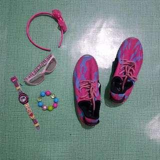 L.A Gear Pink Shoes (Rechargable Light)