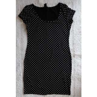 H&M Basic Polkadot Mini Dress