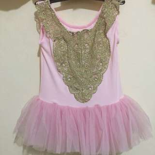 Ballet Tutu Dress with Exquisite Embroidery