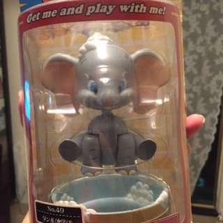 絕版小飛象 super rockin 搖頭公仔 沖涼款 figure dumbo 迪士尼 玩具 精品 模型 擺設 動漫 日本 罕有