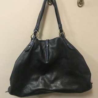 Fino black slouchy shoulder bag