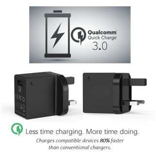 🏆NEW FAST CHARGING!! Qualcomm Quick Charge 3.0! (Qualcomm Certified)  Note 4, S6, Note 5, S7 Edge, S8+, Sony Z5, LG, Nexus Devices Optimized!  (Please Read The Info About New Charging Standard)