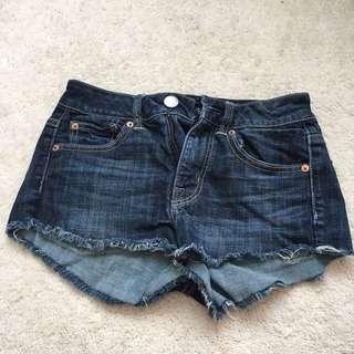 American Eagle Low Rise Dark Denim Shorts