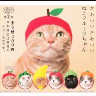 (私物🤖) 貓咪頭套 貓頭套 扭蛋 轉蛋水果系列 西瓜 🍉 蘋果 香蕉 寵物頭飾 寵物衣服 寵物 貓咪 貓用 第八彈