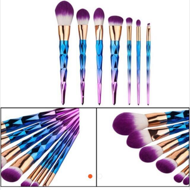 7 Pcs Unicorn Brushes Set