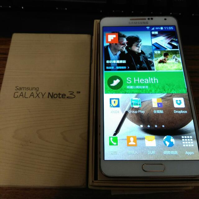 90%new 九成新 Samsung note3 4g Lte 16g 白金色 全頻4g 盒裝