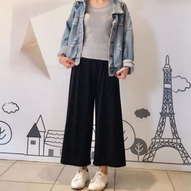 韓國涼感寬褲