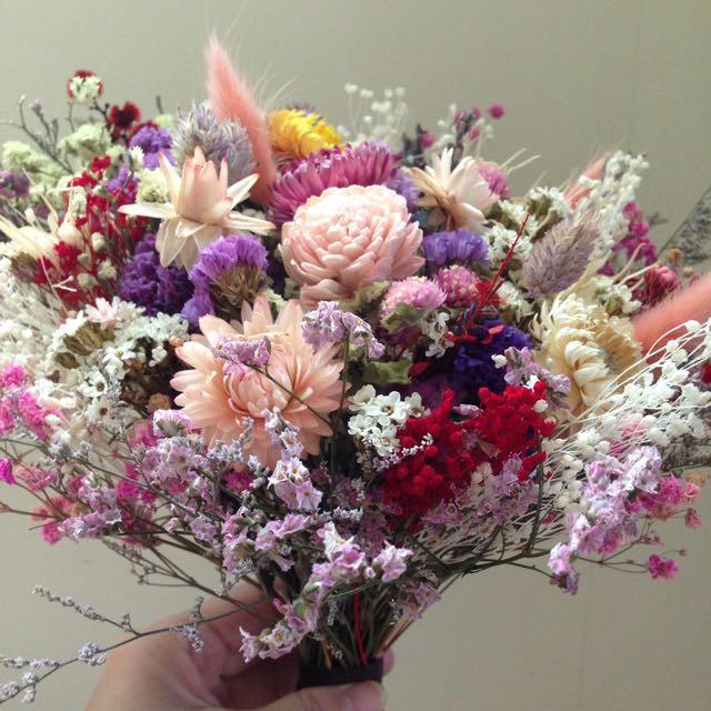 復古乾燥花束