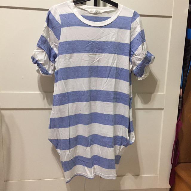 可愛條紋洋裝