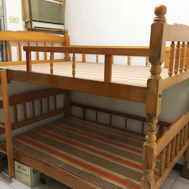 雙層床 雙人床 兩張雙人床 實木 原木 超耐用