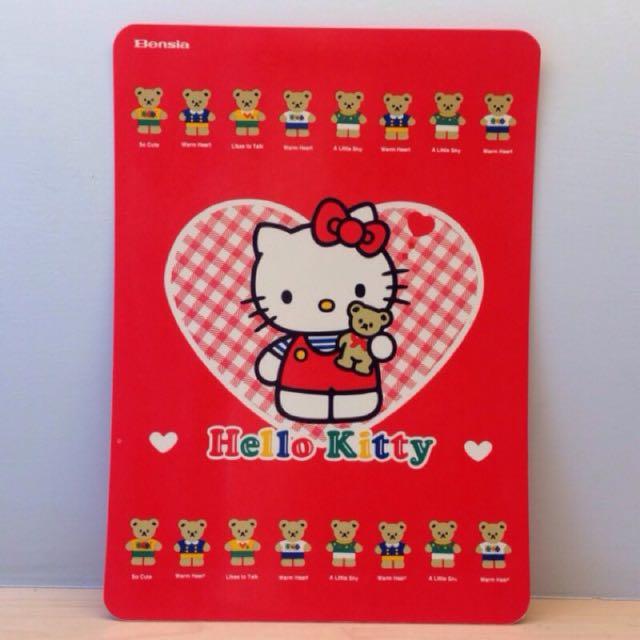 絕版 凱蒂貓 三麗鷗 Hello Kitty 墊板/功課表/九九乘法