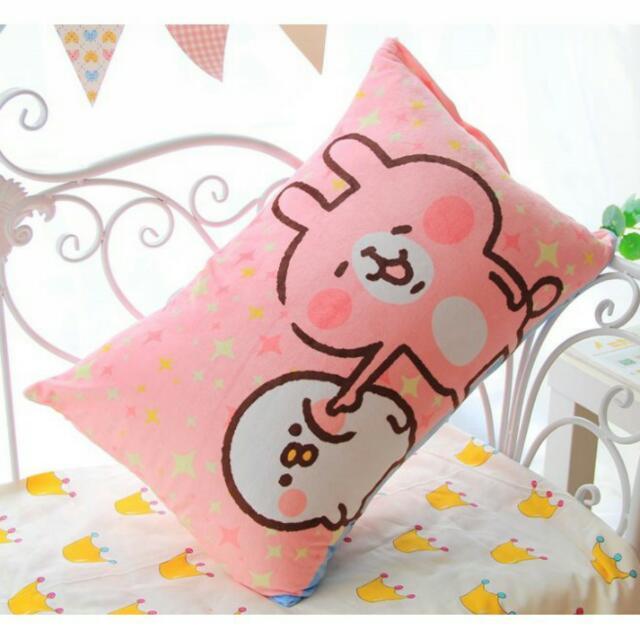 卡娜赫拉 枕頭 兔兔 P助 高雄可面交 枕頭套 寢具 小雞 小動物 粉紅 卡通 動漫