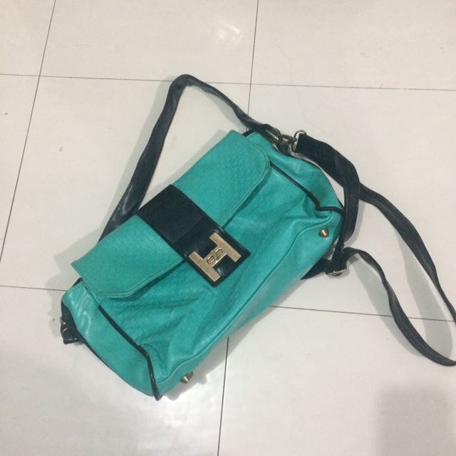 ( Php180 Only!!! ) Blue Green Shoulder / Body Bag