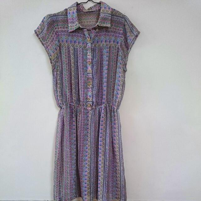 轉賣纖維街短洋裝 Vintage 古著 二手