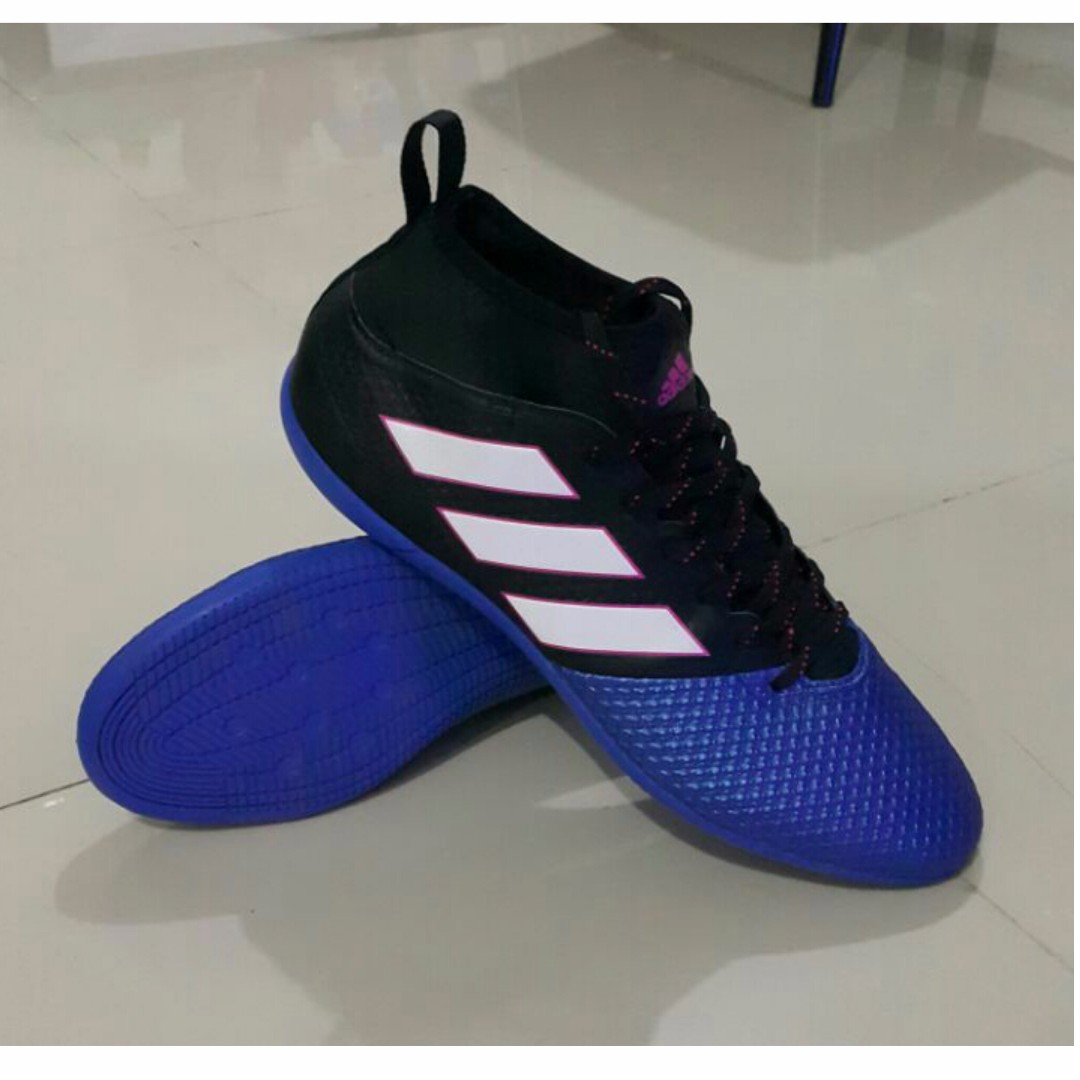 more photos 9f678 fa6a9 ADIDAS ACE 17.3 Primemesh in Core Black White Blue, Men's ...
